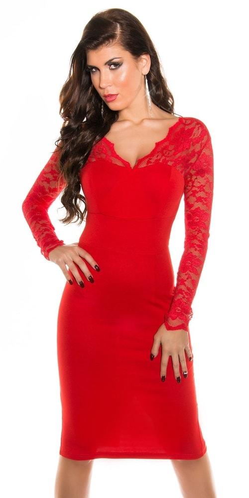 Elegantné šaty s čipkou - Koucla - Večerné šaty a koktejlové šaty ... 093c7da1048