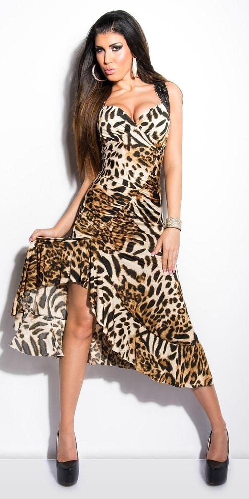 Spoločenské šaty - leopard - Koucla - Večerné šaty a koktejlové šaty ... 12a4fc9fab0