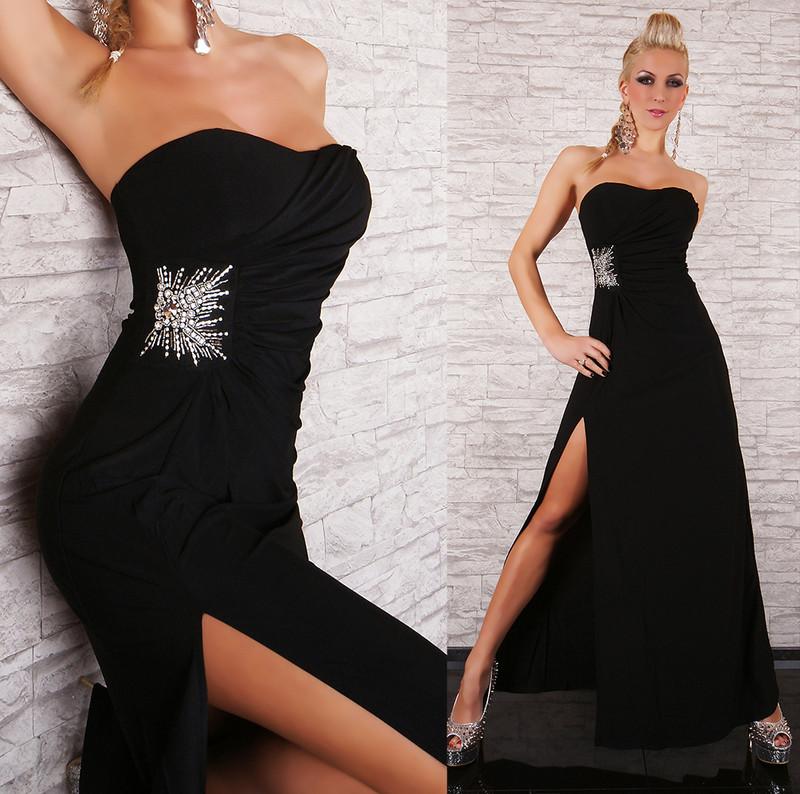 Černé plesové šaty - EU - Dlouhé společenské šaty - i-moda.cz 0d95218756