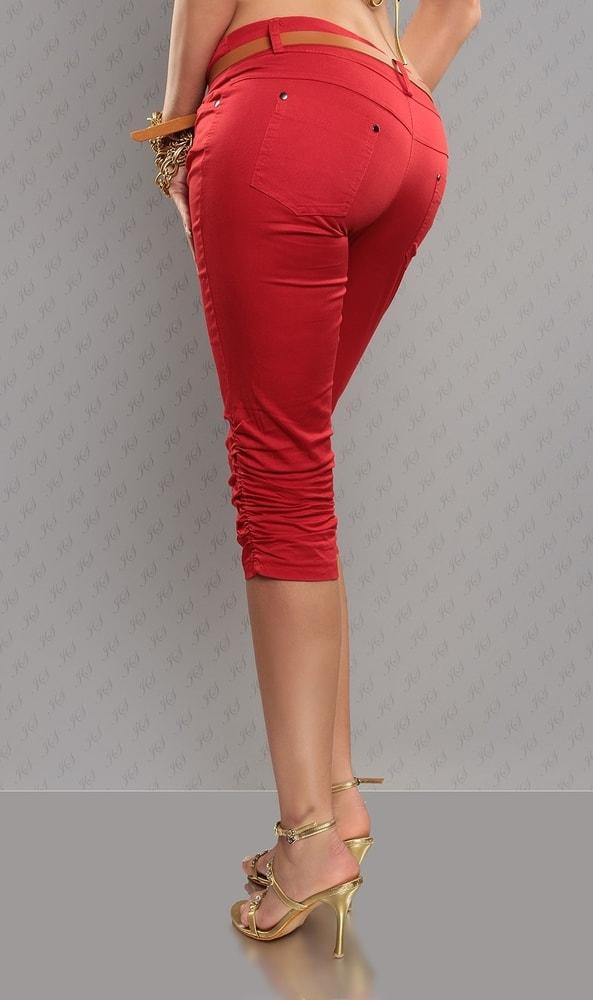 517bcfda975 Dámské červené capri kalhoty - Koucla - Capri kalhoty - i-moda.cz