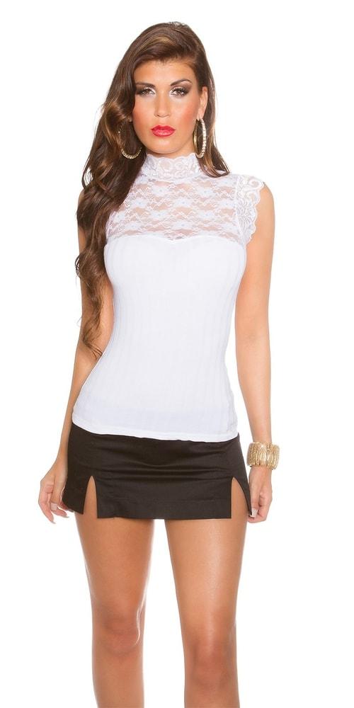 Bílý elegantní top - Koucla - Společenské topy - i-moda.cz 6c7124b74e