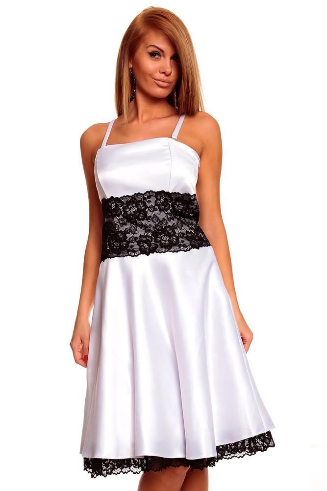 Bílé plesové šaty - Mayaadi - Společenské šaty - i-moda.cz c69ddcd209