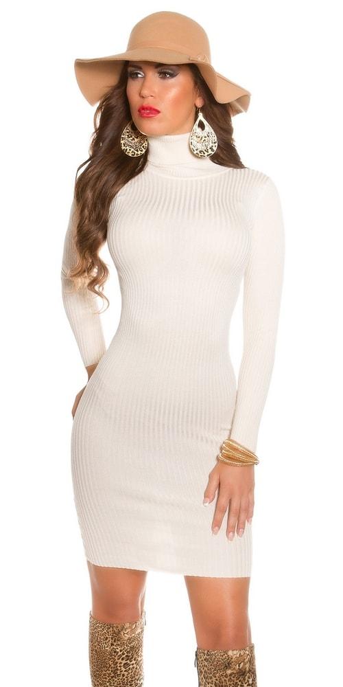 Elegantné úpletové šaty v béžovej farbe - Koucla - Úpletové šaty ... 92a52a33ae