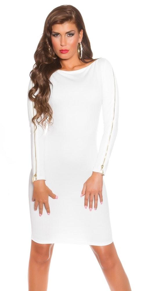 Biele šaty dámske - Koucla - Puzdrové šaty - vasa-moda.sk 2187b9e854