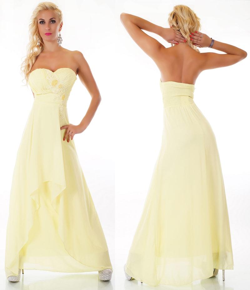 Plesové šaty - žluté - EU - Večerní šaty a koktejlové šaty - i-moda.cz a28f0596e0