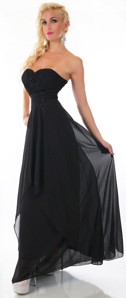 Černé dlouhé šaty - EU - Večerní šaty a koktejlové šaty - i-moda.cz 3fb266a1ed