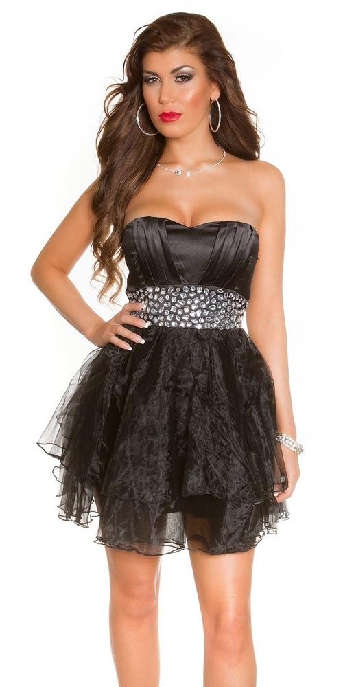 5b8cb4746c4 Spoločenské šaty krátke čierne - Koucla - Večerné šaty a koktejlové ...