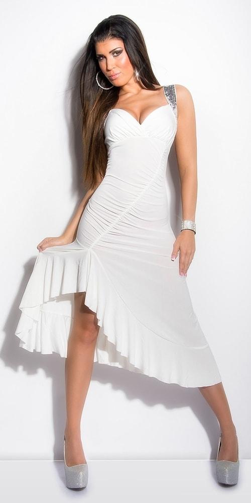 Biele koktejlové šaty - Koucla - Večerné šaty a koktejlové šaty - vasa ... 582c93999a7