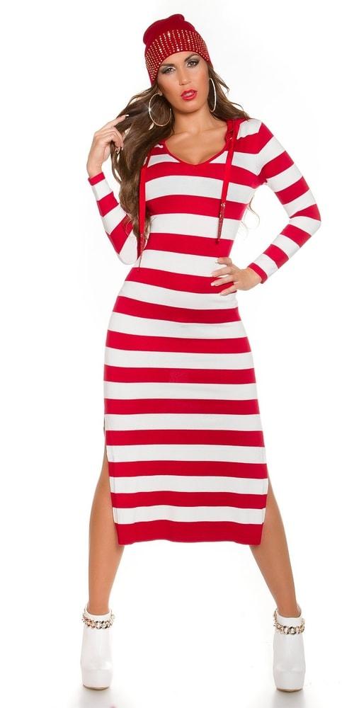Dámske šaty s kapucňou - Koucla - Úpletové šaty - vasa-moda.sk 946a08e86f