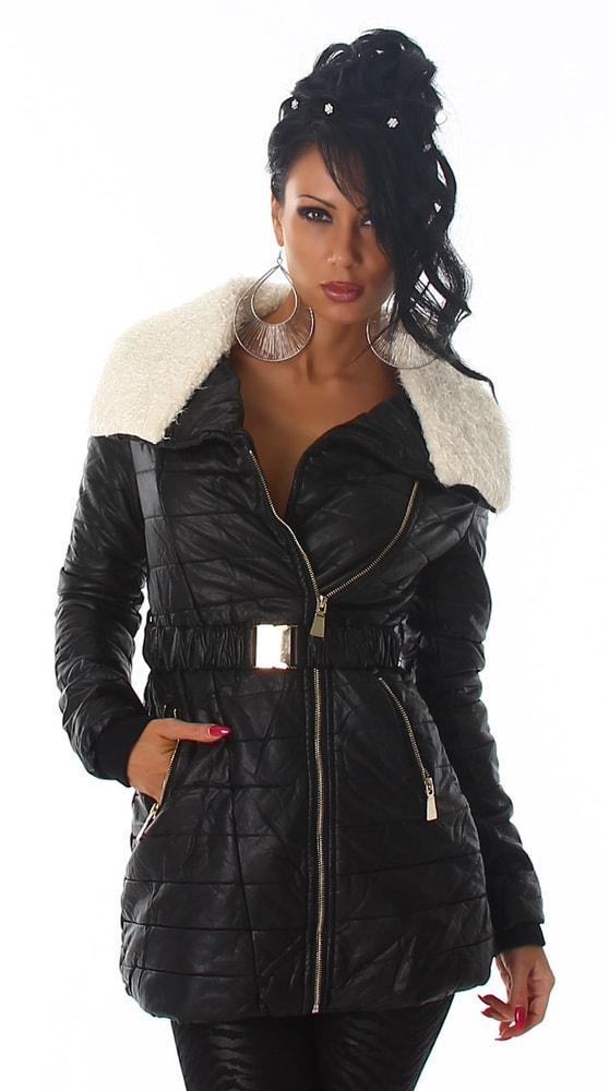 Koženková zimná bunda - Voyelles - Bundy dámske zimné - vasa ... f03647bbc08