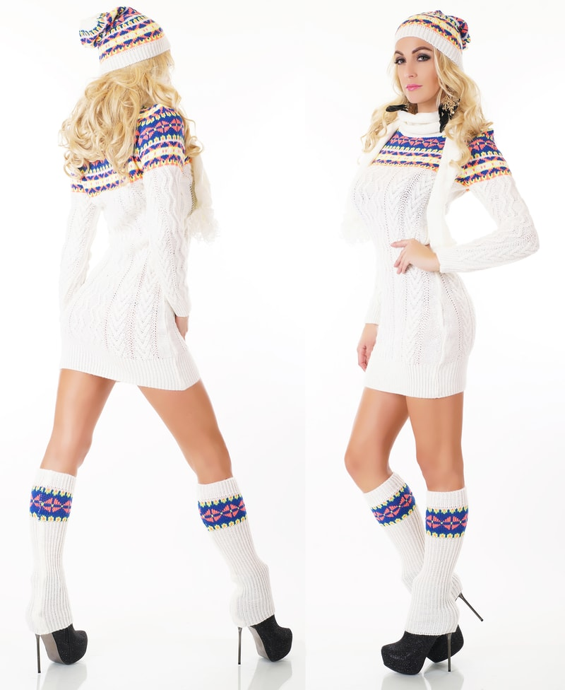 Zimní svetr s návleky bde22a6c0b