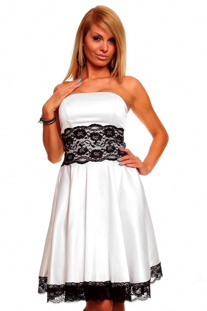 243c216198b6 Bílé plesové šaty - Mayaadi - Večerné šaty a koktejlové šaty - vasa ...