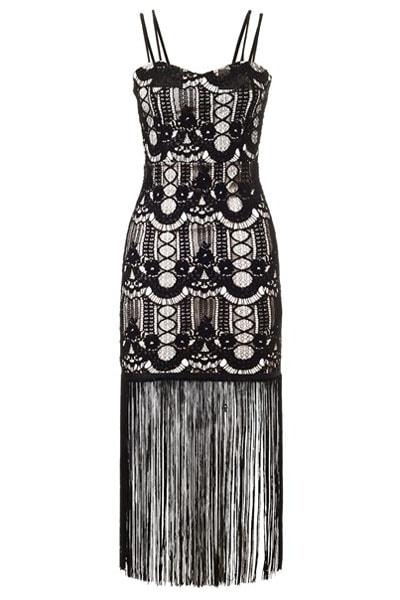 Dámske večerné šaty so strapcami - DAMSON - Večerné šaty a ... 693c35d3b63