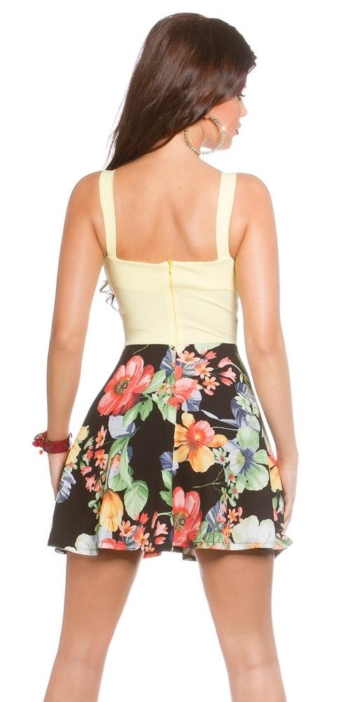 Květované letní šaty-žluté - Koucla - Krátké letní šaty - i-moda.cz 312af8d9a3