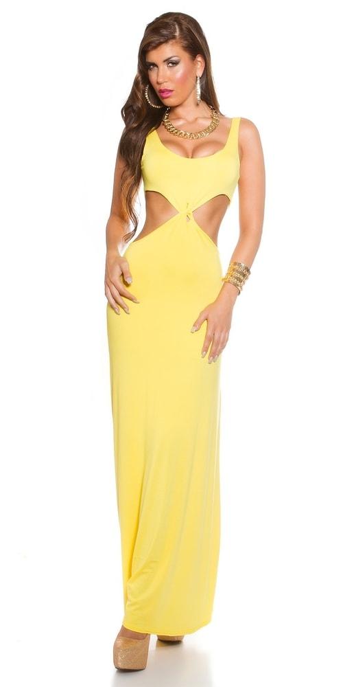 Žluté dámské šaty - Koucla - Dlouhé letní šaty - i-moda.cz d1fb43259e