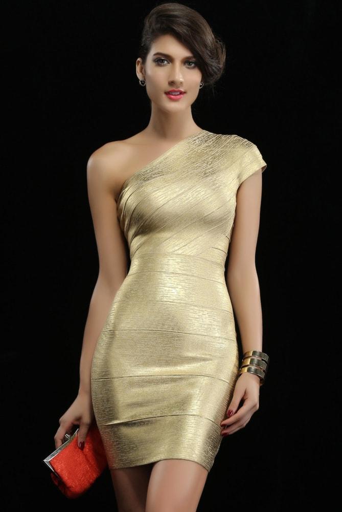 Bandage šaty na jedno rameno - DAMSON - Zoštíhľujúci šaty - vasa-moda.sk 556663eaa82