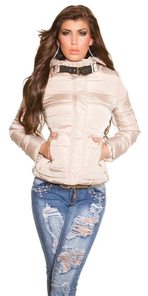 Zimná dámska bunda béžová Koucla in-bu1003be