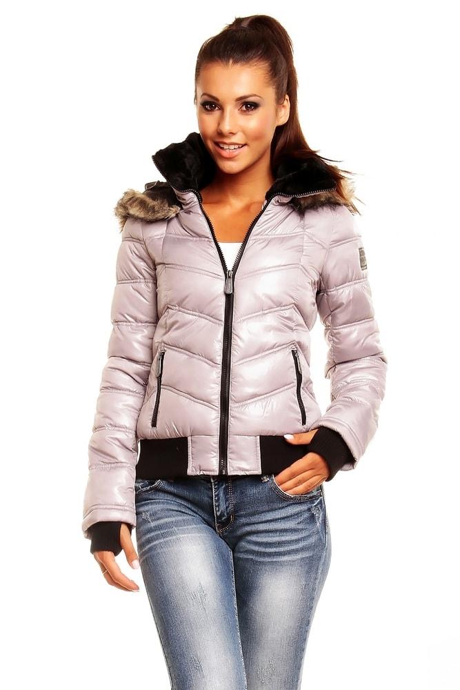 Zimná dámska bunda - sivá - Sublevel - Bundy dámske zimné - vasa ... 30420323406