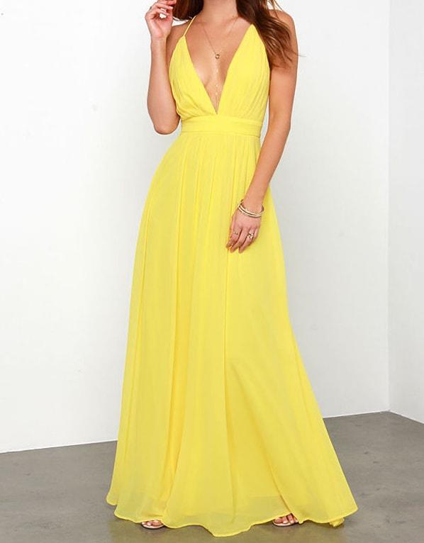 8315c7244d6 Žluté dlouhé šaty - DAMSON - Dlouhé společenské šaty - i-moda.cz