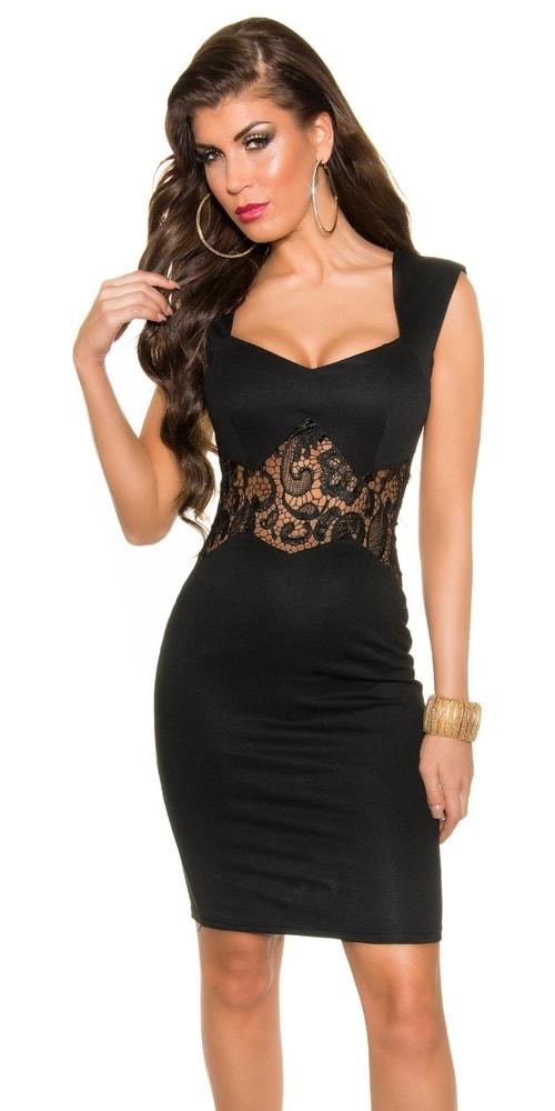 Koktejlové šaty čierne - Koucla - Večerné šaty a koktejlové šaty - vasa ... 33837728370