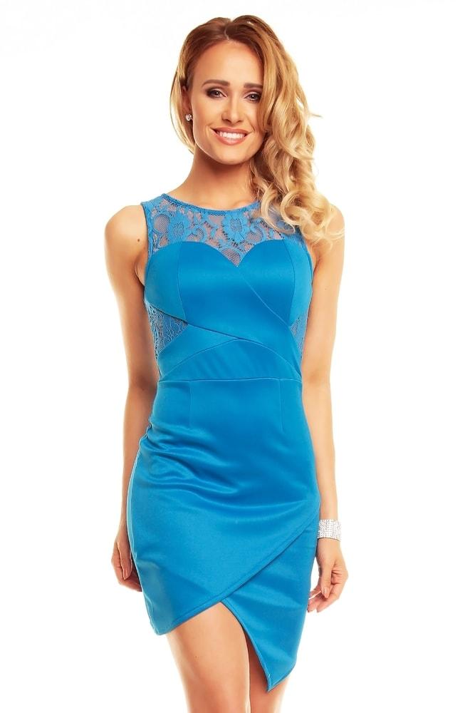 Modré spoločenské šaty - EU - Krátke letné šaty - vasa-moda.sk 67814ba91f