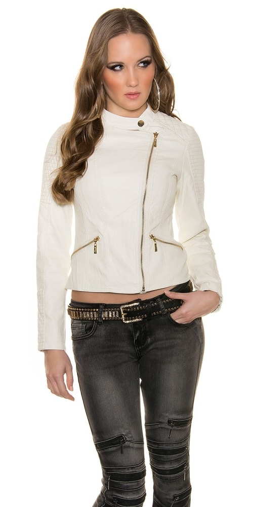 Krátka koženková bunda - Koucla - Bundy dámske koženkové - vasa ... 06aab5a4afa