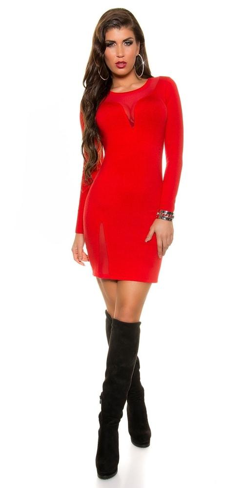 Červené dámske šaty - Koucla - Úpletové šaty - vasa-moda.sk 0998bc905c