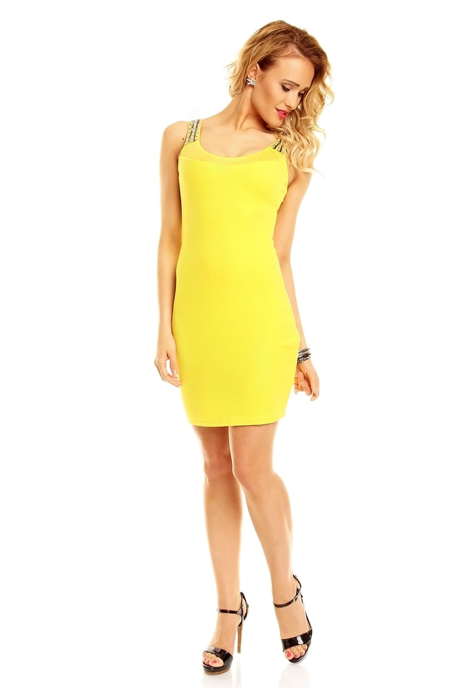 Dámské šaty - žluté - EU - Večerní šaty a koktejlové šaty - i-moda.cz 9b90aff415