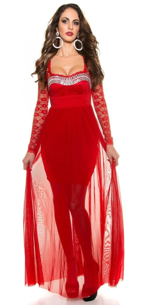 36245857ee4d Krásne dlhé plesové šaty - XL Koucla in-sat1121re