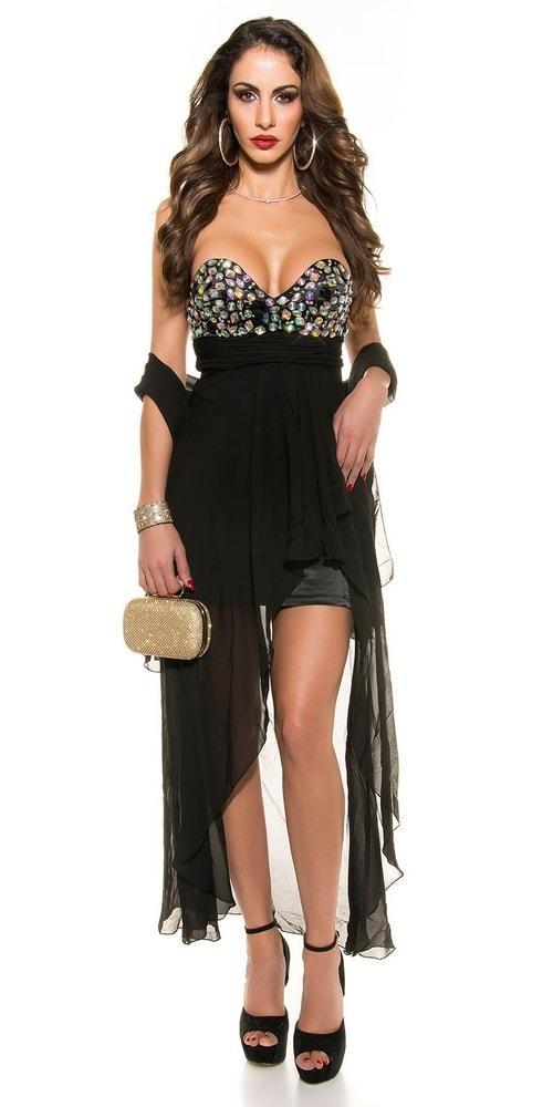Čierne spoločenské šaty - Koucla - Krátke plesové šaty - vasa-moda.sk fa3fe9284d0