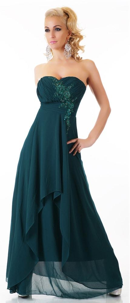 Zelené dlhé šaty - EU - Večerné šaty a koktejlové šaty - vasa-moda.sk 3f7019bd57b