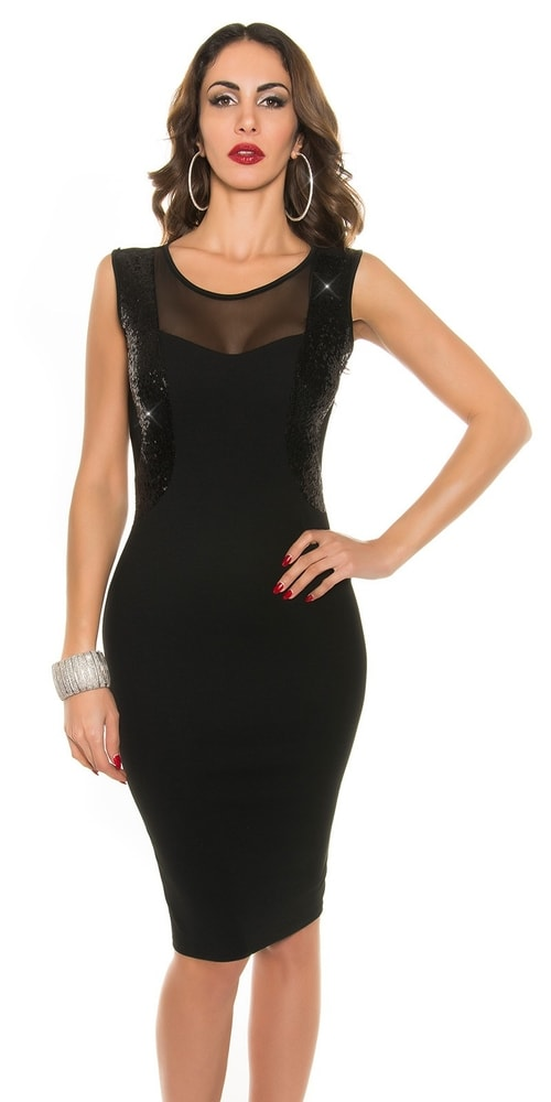 Koktejlové šaty čierne - Koucla - Puzdrové šaty - vasa-moda.sk c42fcc59770