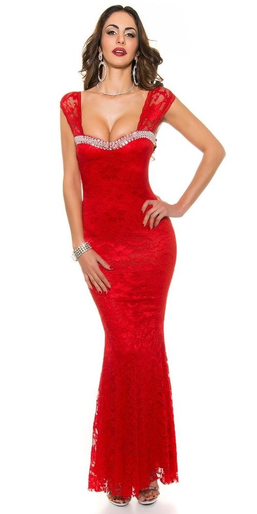bca6aefdd77 Červené plesové šaty - Koucla - Dlouhé plesové šaty - i-moda.cz