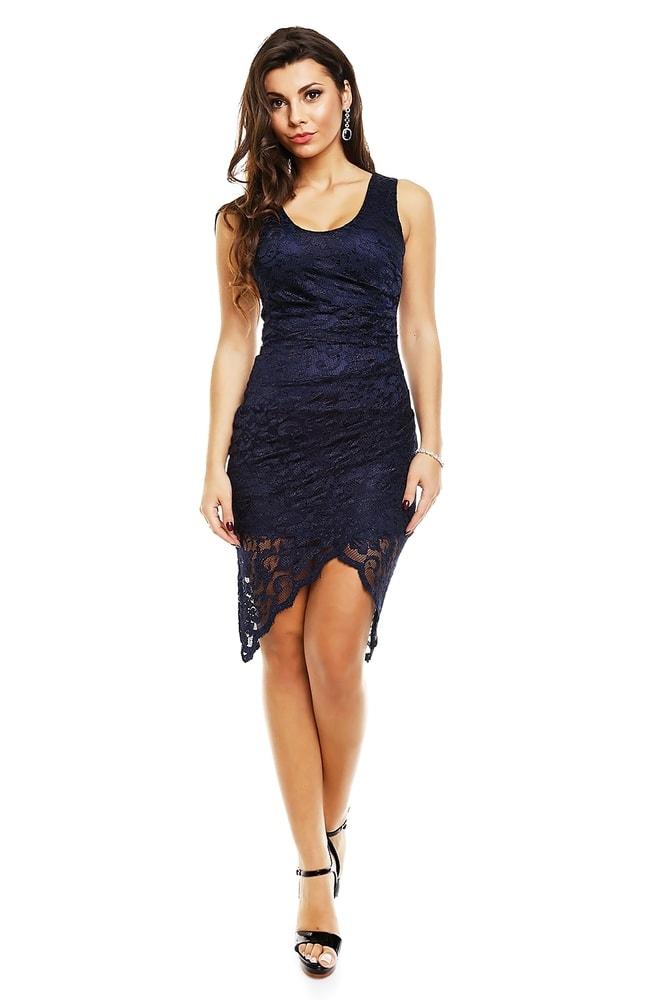 c214aa5234d Krajkové asymetrické šaty - Mayaadi - Večerní šaty a koktejlové šaty ...