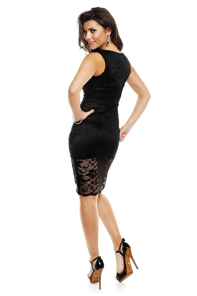 d7596582c12 Černé krajkové šaty - Mayaadi - Večerní šaty a koktejlové šaty - i ...