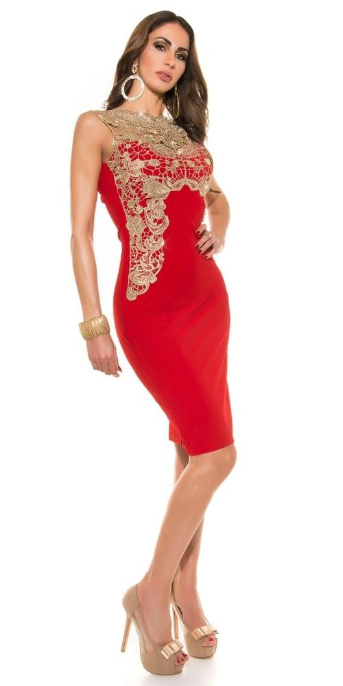 Dámske puzdrové šaty - červené - Koucla - Puzdrové šaty - vasa-moda.sk d6d91418aa4