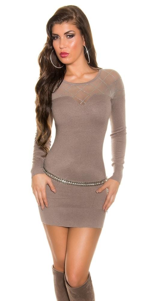 Trendy úpletové mini šaty - Uni Koucla in-sv1071ca