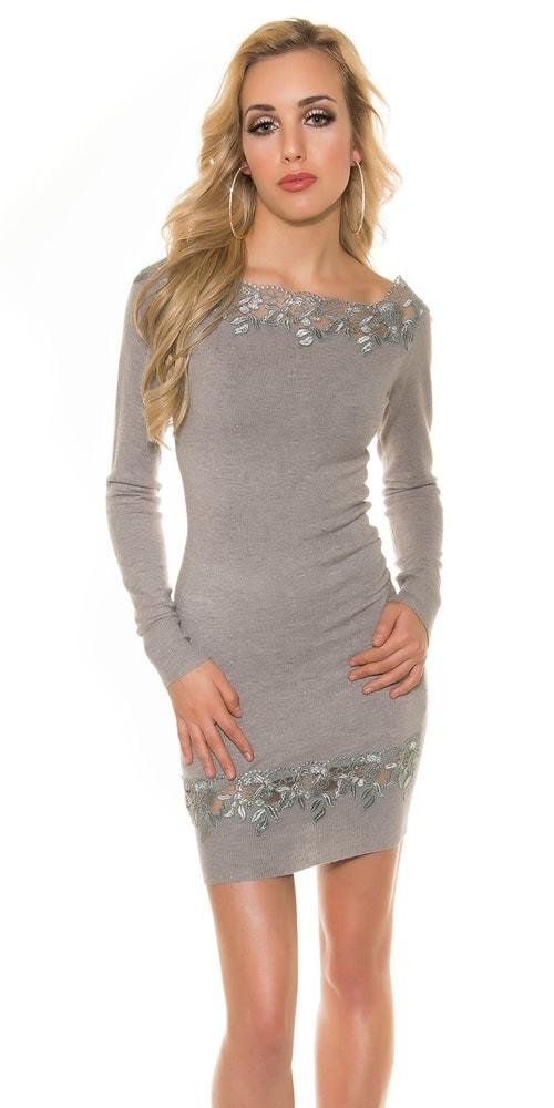 Elegantní úpletové šaty - Koucla - Úpletové šaty - i-moda.cz 532aa410045