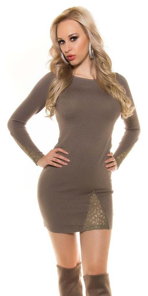 Pletené elegantné šaty - Koucla - Úpletové šaty - vasa-moda.sk e2aa1353ba3
