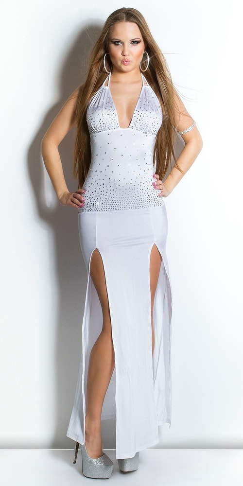 Biele sexy šaty - Koucla - Dlhé spoločenské šaty - vasa-moda.sk 6775b7d0c24