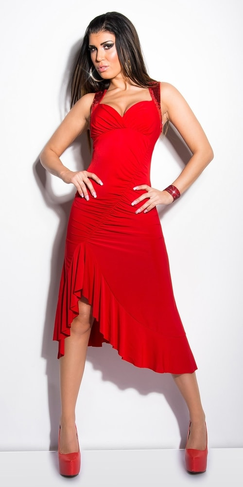 023845d3d47 Červené společenské šaty -II.jakost - Koucla - Výprodej oblečení II ...