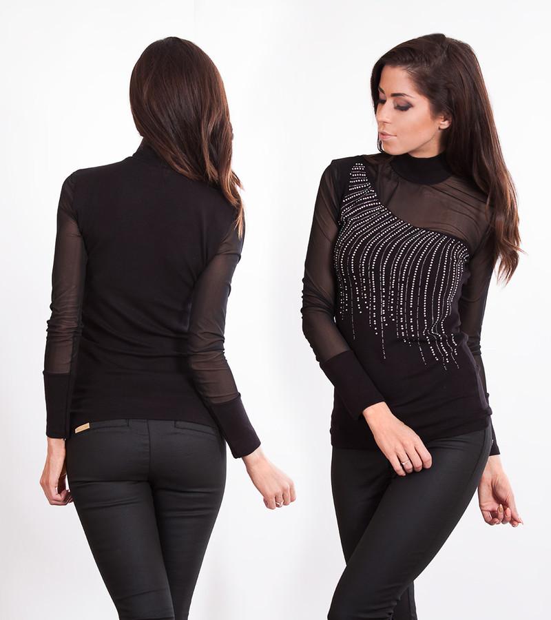 Černá tunika do společnosti - Fashion H. - Spoločenské topy - vasa ... f42b14e220