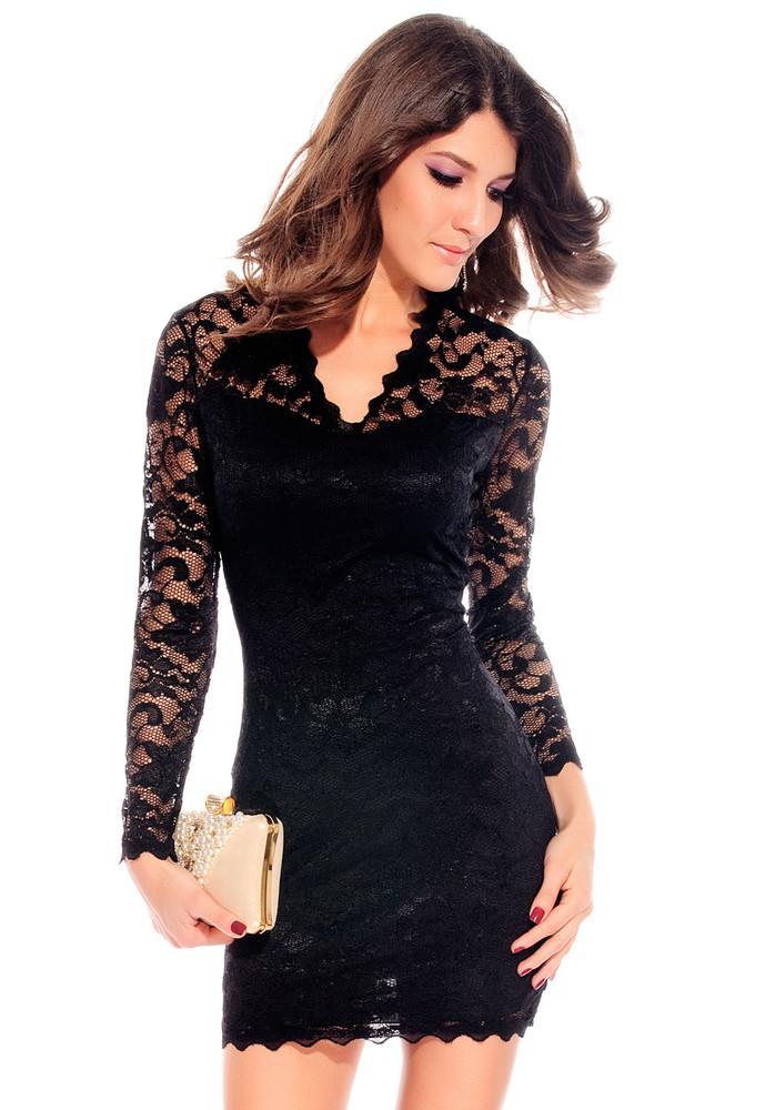 d5a24016867 Černé krajkové šaty - DAMSON - Večerní šaty a koktejlové šaty - i ...