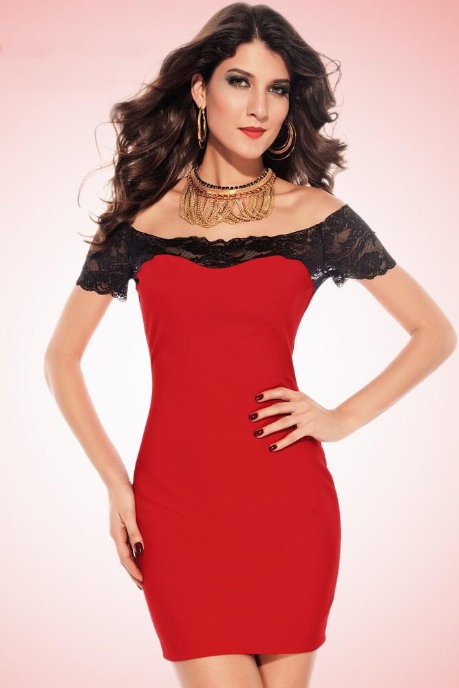 86b77743f99 Červené šaty - DAMSON - Večerné šaty a koktejlové šaty - vasa-moda ...