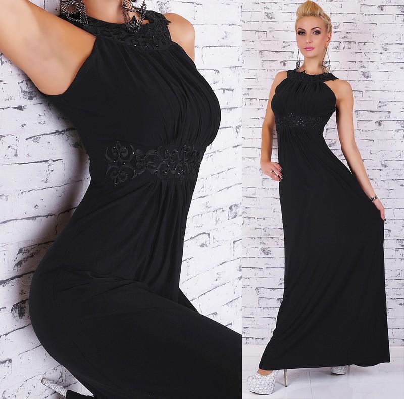 Dlouhé večerní šaty - černé - EU - Dlouhé plesové šaty - i-moda.cz 52df1254e3