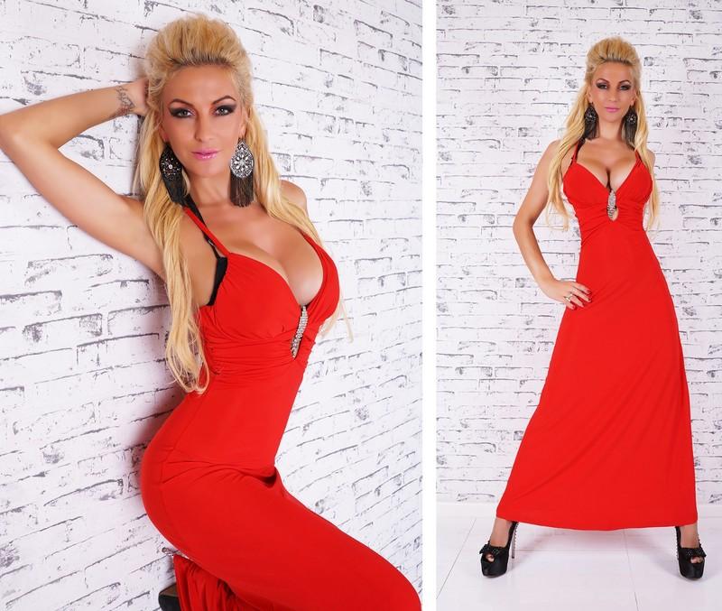29eeca2e0472 Červené šaty - EU - Dlhé spoločenské šaty - vasa-moda.sk