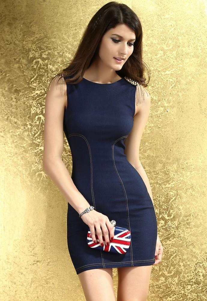Trendy dámské minišaty - DAMSON - Riflové šaty - vasa-moda.sk 832b604e90