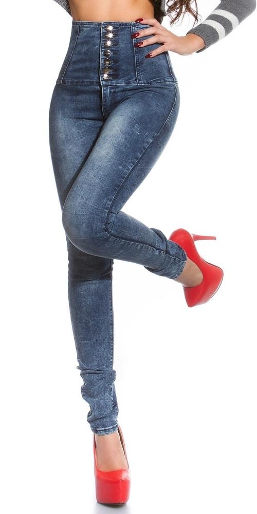78c72ebb717 Skinny jeans s vysokým pasem. Domů ›  Dámské oblečení ›  Dámské džíny ...