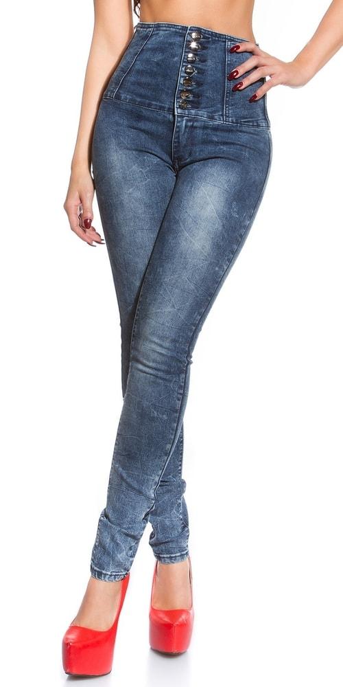 Skinny jeans s vysokým pásom - Koucla - Dámske rifle - vasa-moda.sk e7a4dad8b5