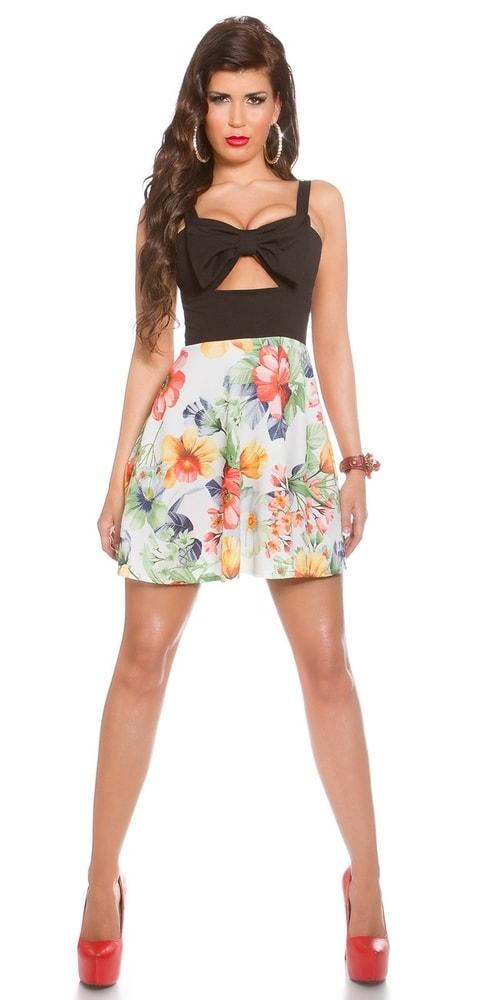 Letné kvetované šaty - čierne - Koucla - Krátke letné šaty - vasa ... 3ff94c120f4